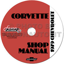 1979 Corvette Shop Manual CD Repair Service Books on CD-ROM Chevrolet Chevy