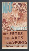 Brochure touristique NICE COMITÉ DES FÊTES 1945 1946 tourism guide