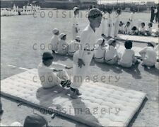 1965 Wire Photo Japanese Elementary Students Practice Gymnastics Japan
