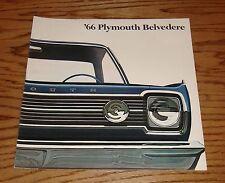 Original 1966 Plymouth Belvedere Sales Brochure 66 Satellite