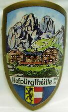 Hofpurglhutte used badge stocknagel hiking medallion mount G5063