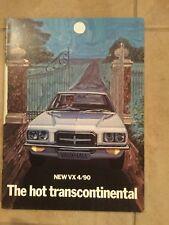 Vauxhall,The Hot Transcontinental,New VX 4/90,Factory Brochure,1972