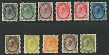 Canada 1898-02 QV Numeral issue set complete #74-84 mhr