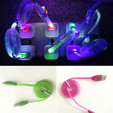 Light-up LED USB Data Sync Charger Cable Charging Cord For iPhone Android HTC US