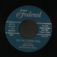 JAMES BROWN: Try Me / Tell Me What I Did Wrong 45 (clean VG) Soul