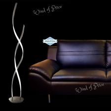 Modern Led Waves Floor Lamp Curves Desing Spiral Contemporary Light Steel Twist