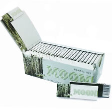 Moon NEW 50 booklets Pure Hemp Tobacco Rolling Papers 70*36mm 2500 leaves
