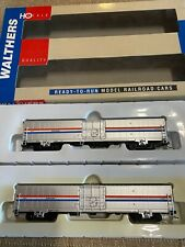 Amtrak 60' Material Handling Car 2-Pack - Phase III -  Walthers - Rare