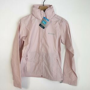 Columbia Pink Switchback Waterproof Packable Light Rain Jacket M Women's New