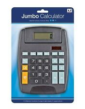Anker Jumbo Solar Powered School College Home and Office Calculator - Black