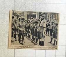 1923 Lord Jellicoe Inspecting Westminster Boy Scouts In Little Deans Yard