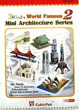 3 D PUZZLE 144 Pieces World Famous Mini Architecture Series #2 New