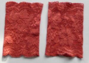 Stulpen handgenäht Handarbeit neu Spitze altrosa 14 cm lang 9,5 cm breit