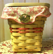 Longaberger 2004 Horizon Of Hope Basket Whitewashed w/Liner,Protector, Pin & Lid