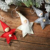 AU_ FT- 3x Christmas Star Doll Toy Xmas Tree Hanging Ornaments Room Decor Novelt