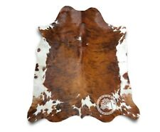 New Cowhide Rug Leather TRICOLOR COLOMBIAN 6'x8' Cow Hide Upholstery Leather