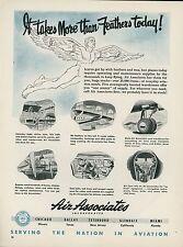 1951 Air Associates Ad Airplane Aircraft Parts Supply Repair Service Maintenance
