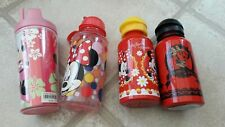 4 X Minnie Mouse Drinking Cups With Lids Perfect For School