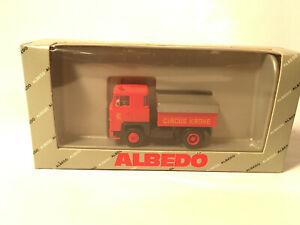 """ALBEDO, CIRCUS KRONE"""", Scania 141, 2-achs Zugmaschine mit Balastpritsche"""