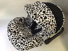 baby car seat cover canopy cover fit Most infant car seat cow print white black