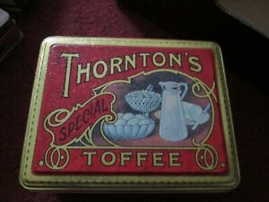 Thornton's Toffee Tin collectable Chocolate Kabins Sheffield special (empty)
