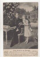 Unser Kronprinz Mit Schwester 1902 Postcard Germany Royalty 017b