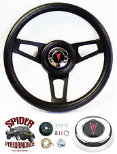 "69-93 GTO Tempest LeMans Grand Prix Catalina steering wheel 13 3/4"" BLACK SPOKE"