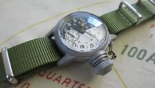 WW2 ELGIN MILITARY 24 HOUR DAY/NIGHT WATCH with 300 FT WATER PROOF CANTEEN CASE