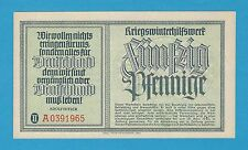 Germany Winterhilfswerk WHW 50 PFG 1939-40 Series II Block A S/B-Kroll 371 UNC