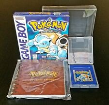 AUTHENTIC NM Pokemon BLUE (Game Boy) Complete CIB TESTED SAVES Rare Collectors
