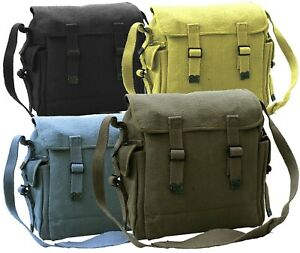 Canvas Shoulder Bag Vintage Army Military Style Haversack Work Tool Pocket Sack