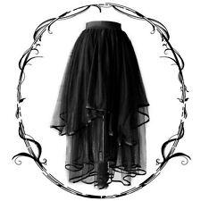 Punk Gótico Lolita Chica de Moda Fantástico Negro irregular de chifón faldas