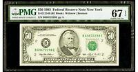 $50 1993 Federal Reserve Note New York PMG 67 EPQ Superb Gem Uncirculated