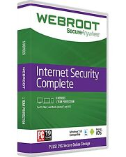Webroot SecureAnywhere Internet Security COMPLETE 2019, 5 Devices 1Year WITH DVD