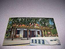 1940s SUN DECK BOAT HOUSE at RAINBOW SPRINGS FLORIDA LINEN POSTCARD