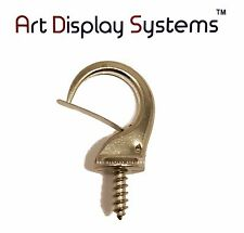 Art Display Systems Large Zinc Security Cup Hook – Pro Quality – 10 Pack