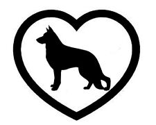 GERMAN SHEPHERD HEART VINYL DECAL STICKER DOG BREED CHOOSE COLOR SIZE