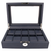 Premium Watch Box For Men Navy Blue Fits 10 Watches RRP £90