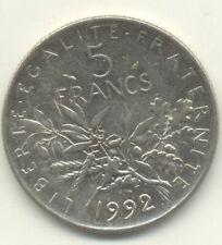 5 FRANCS SEMEUSE 1992 TTB