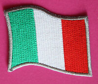Italien Aufnäher / patch Fahne Italia riporto Italy Flagge flag Aufbügler Forza