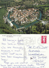 1995 AERIAL VIEW OF BRANTOME DORDOGNE FRANCE COLOUR POSTCARD