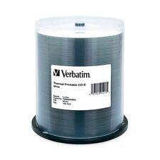 Verbatim CD-R 700MB 52X White Thermal Prinable 100-Pack Spindle