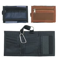 Super Soft Trifold Mens Gents Genuine Leather Ripper Wallet  Safety Clip Patch