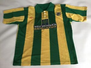 Adult Genuine West Bromwich Albion Short Sleeved Football Shirt Jersey Large Wba