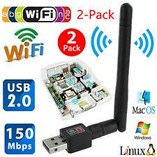 2Pcs Wireless USB WiFi Network Dongle Card 802.11n/g/b w/Antenna  For PC Laptop