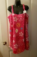 No Boundaries Nobo Size Large 11/13 Juniors Dove Heart Peace Shower Wrap G1