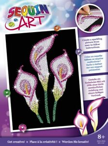 Sequin Art 1938 Calla Lily Craft Kit From The Purple Range