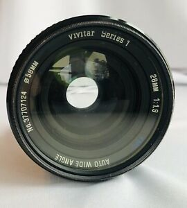 VIVITAR SERIES 1 C/FD 28MM 1:1.9 LENS WITH CANON 58MM HAZE FILTER