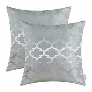 CaliTime Cushion Covers Pack of 2 Throw Pillow Cases Shells for Home Sofa Couch