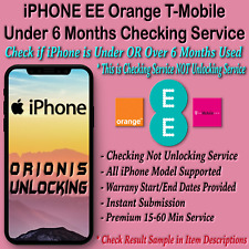 iPhone XS MAX XR X 8 7 6 6S 5S 5 5C PLUS WARRANTY CHECKING SERVICE EE O2 UK